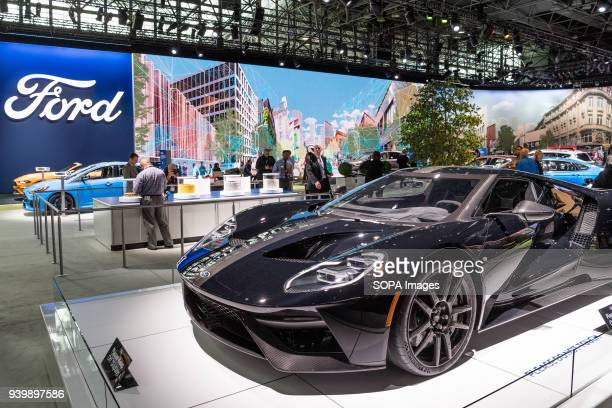 The Ford GT at the New York International Auto Show in New York City. The New York International Motor Show is being hosted in the Jacob Javits...