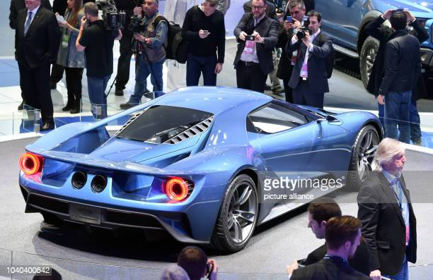 The Ford GT makes its appearance Monday at the North American International Auto Show in Detroit, Michigan. Uli Deck/dpa | usage worldwide