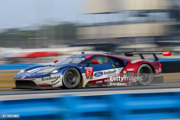 The Ford Gt Of Ryan Briscoe Of Australia Richard Westbrook Of Great Britain And Scott Dixon