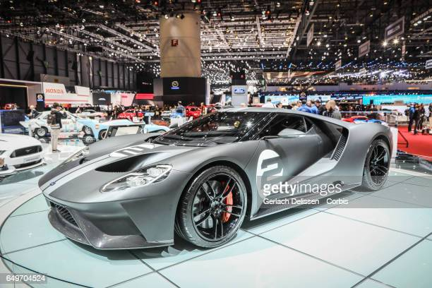 The Ford GT on display during the second press day of the Geneva Motor Show 2017 at the Geneva Palexpo on March 8, 2017 in Geneva, Switzerland.