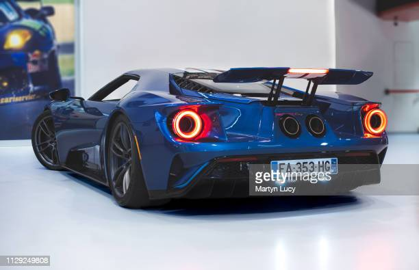 The Ford GT seen at Joe Macari Performance Cars in Wandsworth London The GT was built to mark 50 years since the GT40 won the 1966 24 Hours of Le...