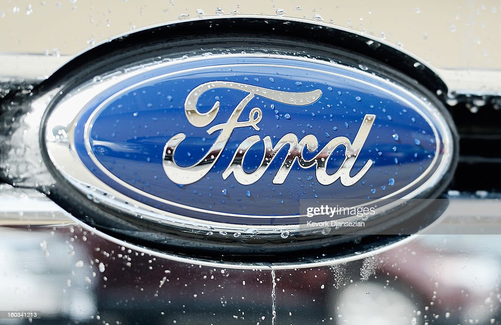 The Ford logo on a car is seen at a dealership on January 29, 2013 in Glendale, California. According to reports the nation's second-largest automaker earned $1.7 billion in the fourth-quarter quarter, the highest pre-tax profit in a decade, up 55% from a year earlier. For the year, earnings slipped 5% to $5.7 billion.