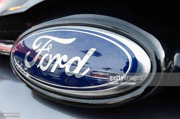 The Ford logo on a car is seen at a dealership on January 29 2013 in Glendale California According to reports the nation's secondlargest automaker...