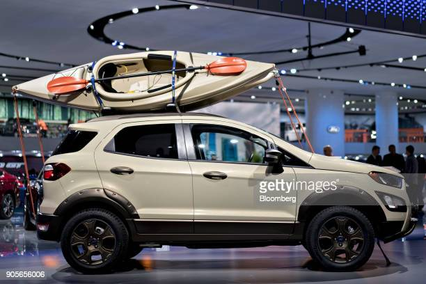 The Ford Motor Co 2018 Ecosport SES 4WD concept vehicle is displayed during the 2018 North American International Auto Show in Detroit Michigan US on...