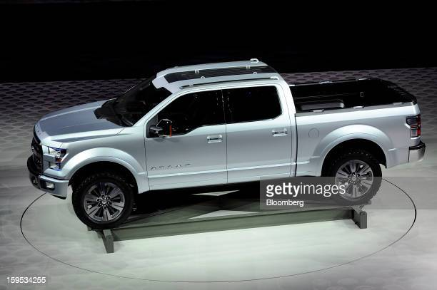 The Ford Motor Co F150 Atlas concept truck is unveiled during the 2013 North American International Auto Show in Detroit Michigan US on Tuesday Jan...