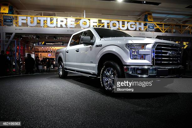 The Ford Motor Co F150 pickup truck is displayed during the 2014 North American International Auto Show in Detroit Michigan US on Monday Jan 13 2014...
