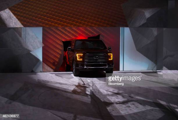 The Ford Motor Co F150 pickup truck is unveiled during the the 2014 North American International Auto Show in Detroit Michigan US on Monday Jan 13...
