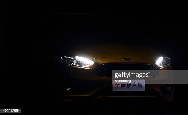 The Ford Motor Co Focus vehicle is unveiled during a media event ahead of the 16th Shanghai International Automobile Industry Exhibition in Shanghai...