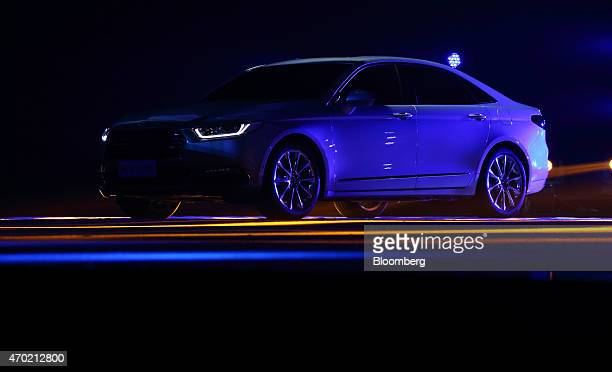 The Ford Motor Co Taurus sedan is unveiled during a media event ahead of the 16th Shanghai International Automobile Industry Exhibition in Shanghai...
