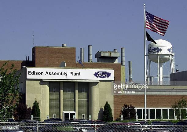 The Ford Motor Company Edison Assembly Plant 22 August in Edison New Jersey is one of three truck plants that will suspend production to free up...