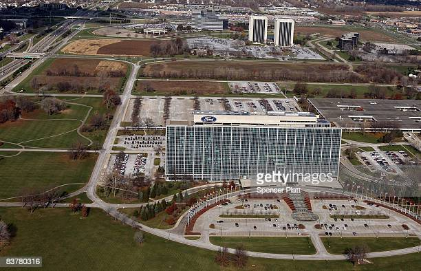 The Ford Motor Company World Headquarters also known as the Glass House stands outside of Detroit on November 21 2008 in Dearborn Michigan As car and...