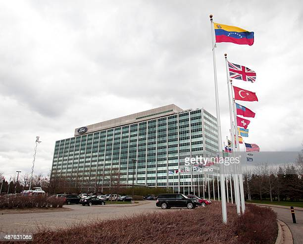 The Ford Motor Company world headquarters building is shown May 1, 2014 in Dearborn, Michigan. Today, Ford announced that effective July 1 Ford COO...