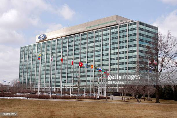 The Ford Motor Company world headquarters is seen March 26 2008 in Dearborn Michigan Ford announced it has entered into a definitive agreement to...