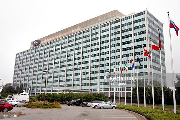 The Ford Motor Company world headquarters is shown July 23, 2009 in Dearborn, Michigan. Ford reported $2.3 billion quarterly earnings today.