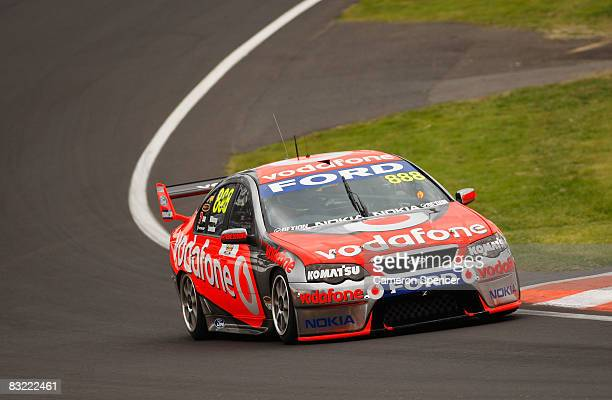 The Ford of Jamie Whincup and Craig Lowndes of Team Vodafone in action during practice for the Bathurst 1000 round 10 of the V8 Supercars...