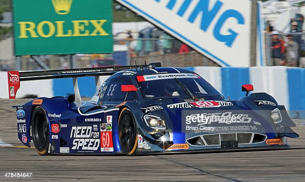 The Ford Riley of John Pew Oswaldo Negri and Justin Wilson is shown in action during practice for the 12 Hours of Sebring at Sebring International...