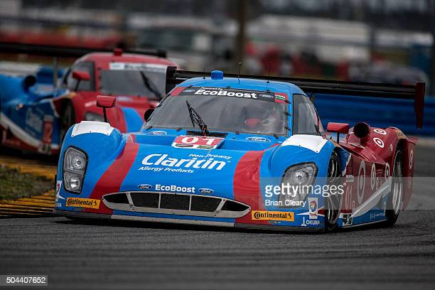 The Ford Riley of Lance Stroll Brendan Hartley Alex Wurz and Andy Priaulx drives on the track during the Roar Before the 24 IMSA WeatherTech Series...