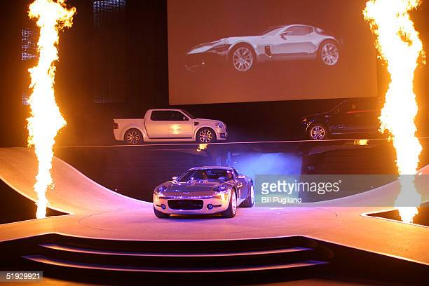 The Ford Shelby GR-1 Concept car is introduced to the media at the 2005 North American International Auto Show January 9, 2005 in Detroit, Michigan.