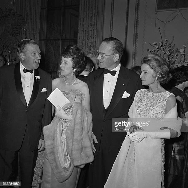 The Fords and the Whitneys at Time dinnerHenry Ford II Mrs Jock Whitney Whitney and Mrs Ford enjoy an evening out May 6th at Time Magazine's 40th...