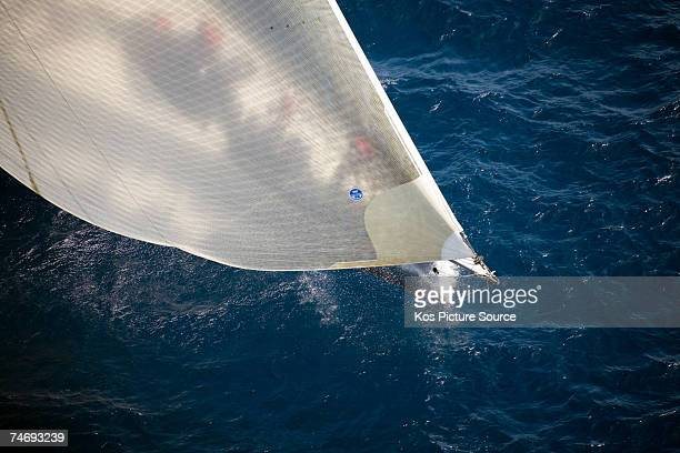 The foredeck crew prepare the sails on the 30m canting keel maxi yacht ''Wild Oats XI'' owned by Bob Oatley sailing on Fortis Day of the Superyacht...