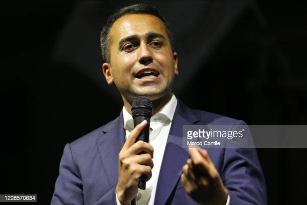 The Foreign Minister and member of the political party Movimento 5 Stelle, Luigi Di Maio, during the rally, for the regional elections in Campania to...