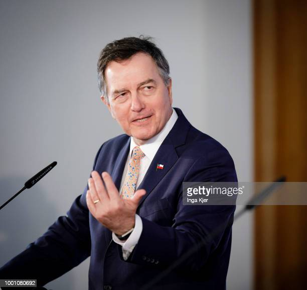 The Foreign Minister of Chile Roberto Ampuero Espinoza captured on July 18 2018 in Berlin Germany