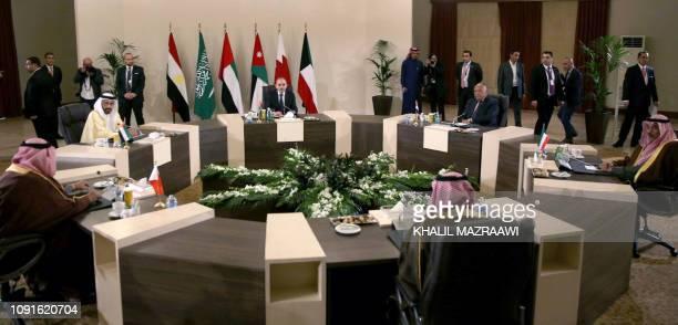 The foreign ministers of Jordan Ayman Safadi Egypt Sameh Shukri Kuwait Sheikh Sabah Khaled alHamad alSabah Saudi Arabia Adel alJubeir Bahrain Khaled...