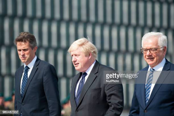 The Foreign Secretary Boris Johnson and Defence Secretary Gavin Williamson visit Warsaw Poland on June 21 2018 to meet with Polish minister of...