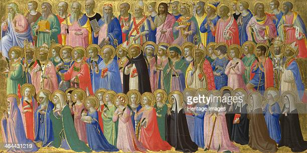The Forerunners of Christ with Saints and Martyrs c 14231424 Found in the collection of the National Gallery London