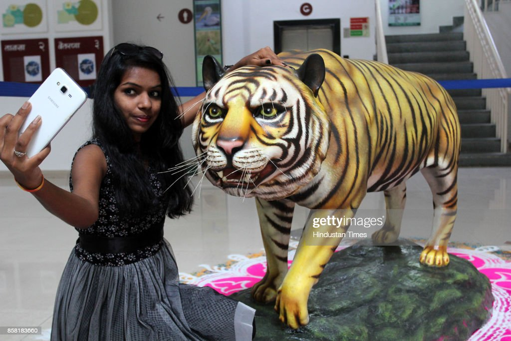 The forest department organises a wildlife photography exhibition to boost tourism at the Thane Kala Bhavan, on October 5, 2017 in Mumbai, India. The exhibition will be open for people till October. The exhibition is a part of World Biodiversity Week.