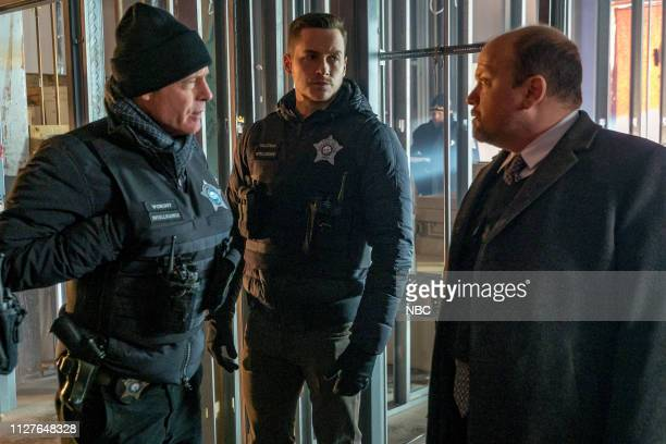 D The Forgotten Episode 616 Pictured Jason Beghe as Hank Voight Jesse Lee Soffer as Jay Halstead Steve Silver as Detective Delaney