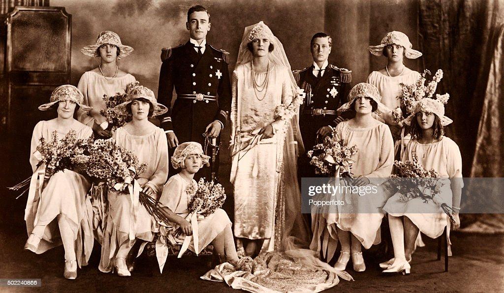Wedding Portrait Of The Earl And Countess Mountbatten : News Photo