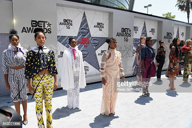 The 'Formation' music video dancers attend the 2016 BET Awards at the Microsoft Theater on June 26 2016 in Los Angeles California