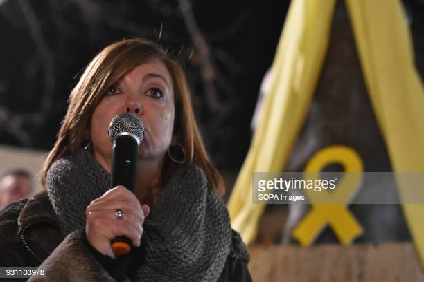 The former advisor of the Government of Catalonia Meritxell Borras released a few months ago by the Justice of Spain seen having a speech during the...