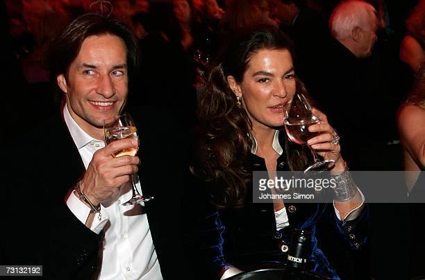 The former Austrian finance minister Karl-Heinz Grasser and his wife Fiona Swarovski attend the Kitzrace Party, January 27 in Kitzbuehel, Austria.
