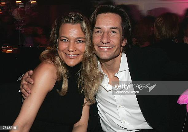 The former Austrian finance minister KarlHeinz Grasser and Romana Hinterseerattend the Kitzrace Party January 27 in Kitzbuehel Austria