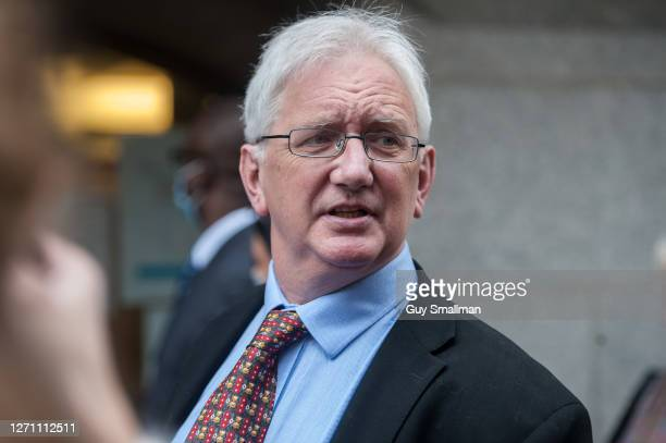 The former British ambassador to Uzbekistan and a supporter of Julian Assange, Craig Murray arrives at the Old Bailey as the extradition hearing for...