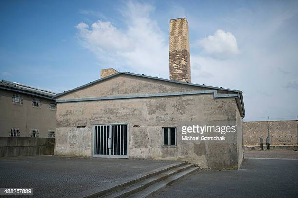 The former crematorium as part of the memorial site of the former concentration camp Ravensbrueck on April 20 2014 in Fuerstenberg Germany During...