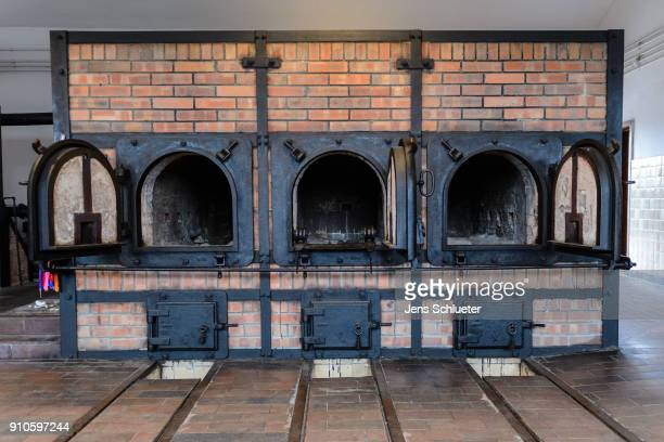 The former crematorium stands at the Buchenwald concentration camp on January 26, 2018 near Weimar, Germany. International Holocaust Remembrance Day...