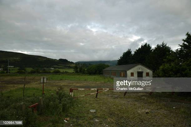 The former Customs and Excise office lays derelict on August 23, 2018 in Jonesborough, Ireland. Following the United Kingdom European Union...