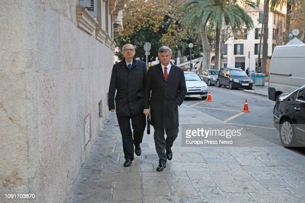 The former director of the Balearic Port Authority Ángel de Matías arrives at the National Audience to attend the 'Mar Blau' case hearing on January...