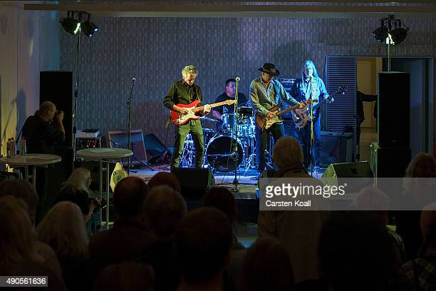 The former East German rock band Speiches Monokel performs at the Hohenschoenhausen memorial and former prison of the East German Stasi secret police...
