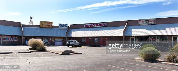 The former exterior of Saul Goodman's office is located in Paradise Square Shopping Center a nondescript strip mall seen on September 01 2013 in...