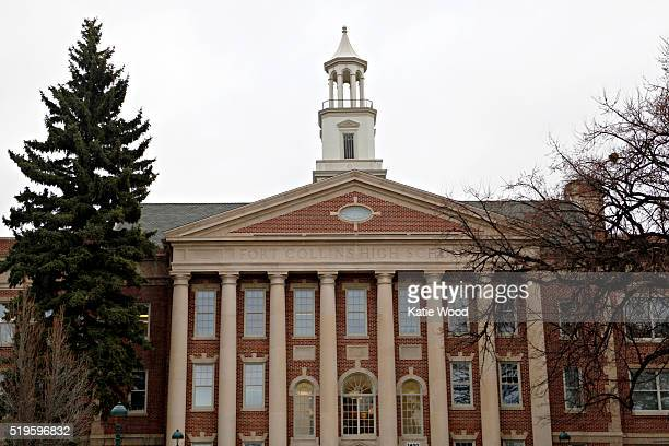 The former Fort Collins High School building now the University Center for the Arts for the Colorado State University in Fort Collins Colorado on...