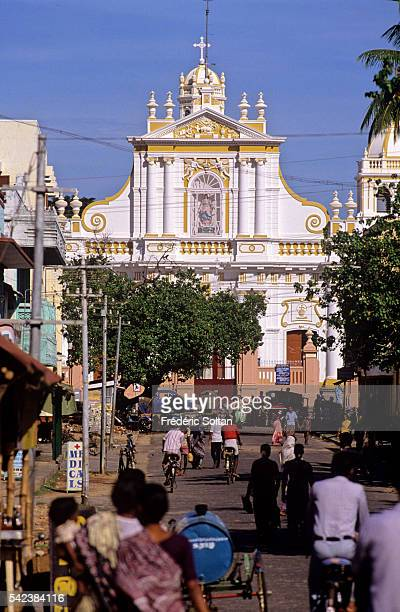 The former French colony of Pondicherry is a Union Territory with a special administrative status Notre Dame de l'Immaculee Conception Cathedral