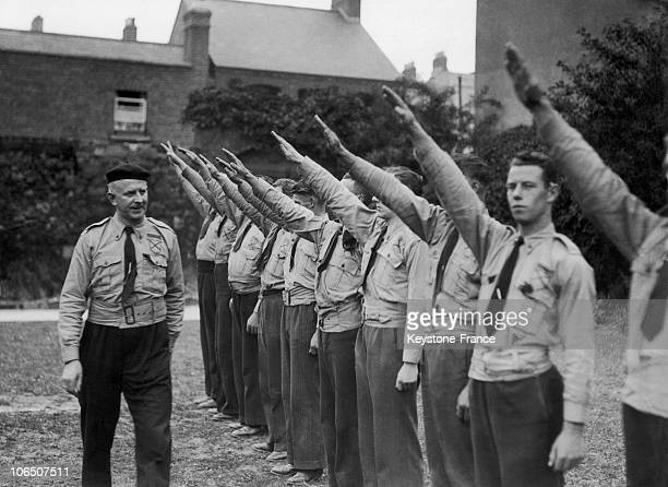 The Former Garda Commissioner Of The Free State Of Ireland General Eoin O'Duffy Elected In July 1933 As Chief Of Army Comrades' Association Which He...