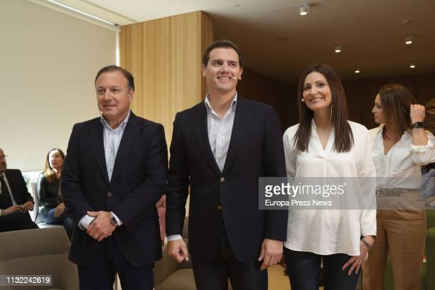 The former general management of the Police and the Civil Guard Joan Mesquida the president of Ciudadanos Albert Rivera and the party's senator...