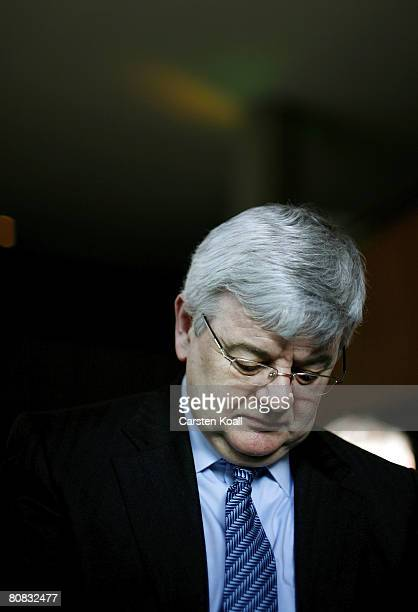 The former german foreign minister Joschka Fischer attends a birthday party April 22, 2008 in Berlin, Germany. Joschka Fischer celebrates his 60th...