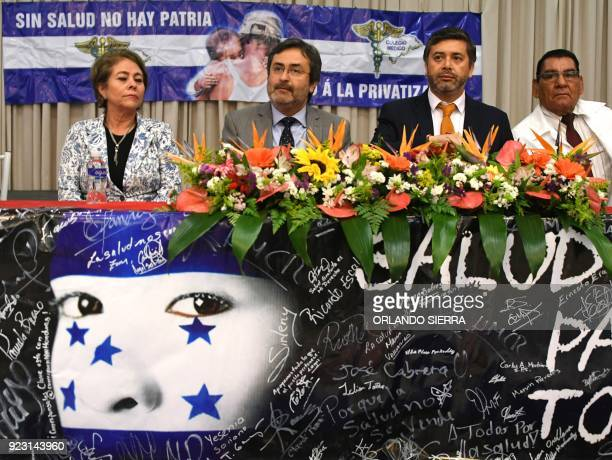 The former head of the OAS Mission to Support the Fight Against Corruption and Impunity in Honduras Juan Jimenez Mayor and Chilean Judge Daniel...