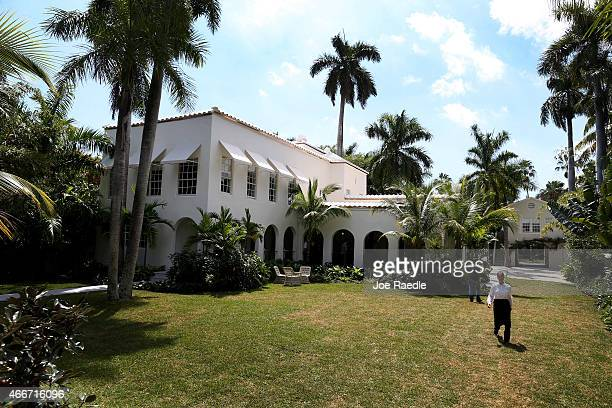 The former home of Al Capone is seen during a tour of the historic house on March 18 2015 in Miami Beach Florida The home being restored by MB...